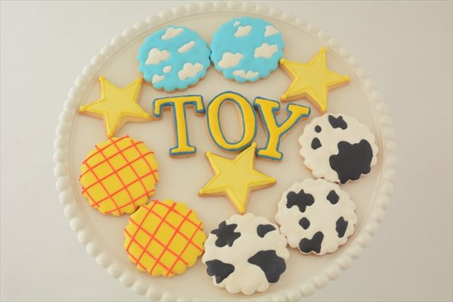 cookie, Toy story themed party by little lemonade. http://little-lemonade.com