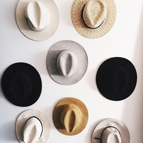 I love the hats on the wall!
