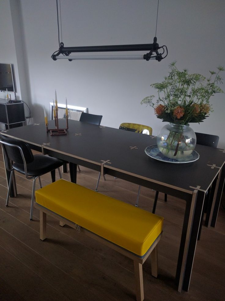 Mission accomplished, table#Fraaiheid, bench#Visser&Meijwaard,inspiration#Gimmii,  lamp#masimo, me happy