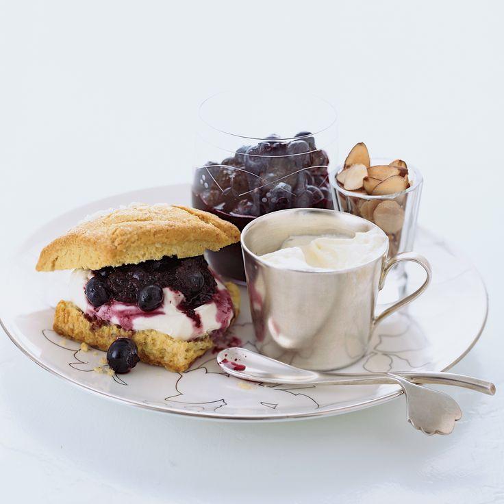 Blueberry-Almond Shortcakes with Crème Fraîche