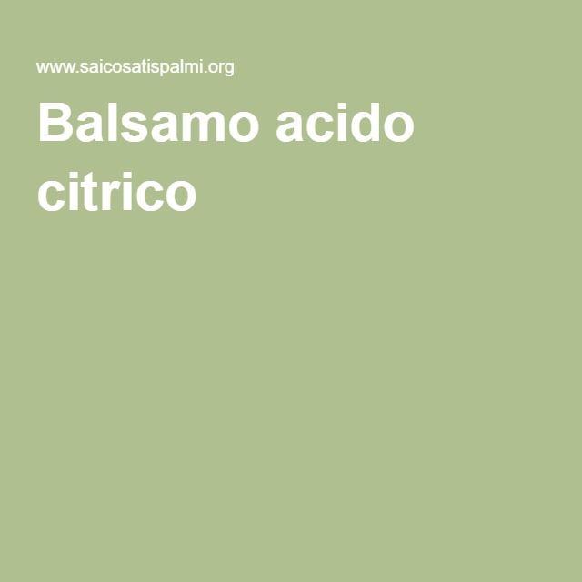 Balsamo acido citrico