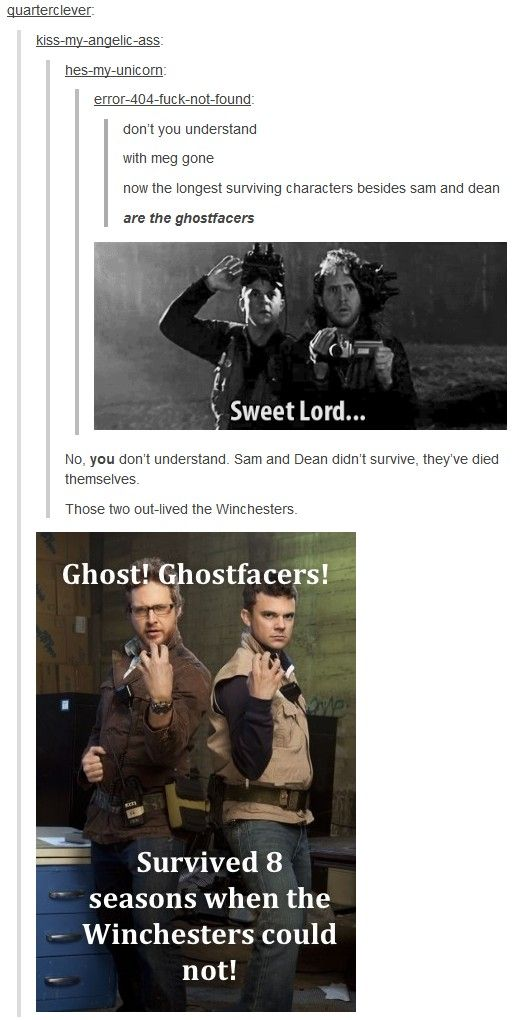 I love the Ghostfacers. I wish they'd do another episode with them. :)