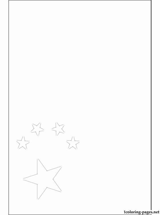 Chinese Flag Coloring Page In 2020 Flag Coloring Pages Chinese