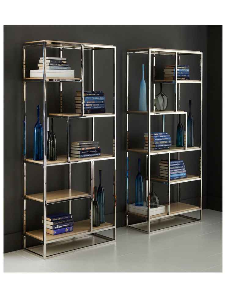 A modern take on the shelves from Art Deco and Hercule Poirot. CAFFREY  BOOKCASE |