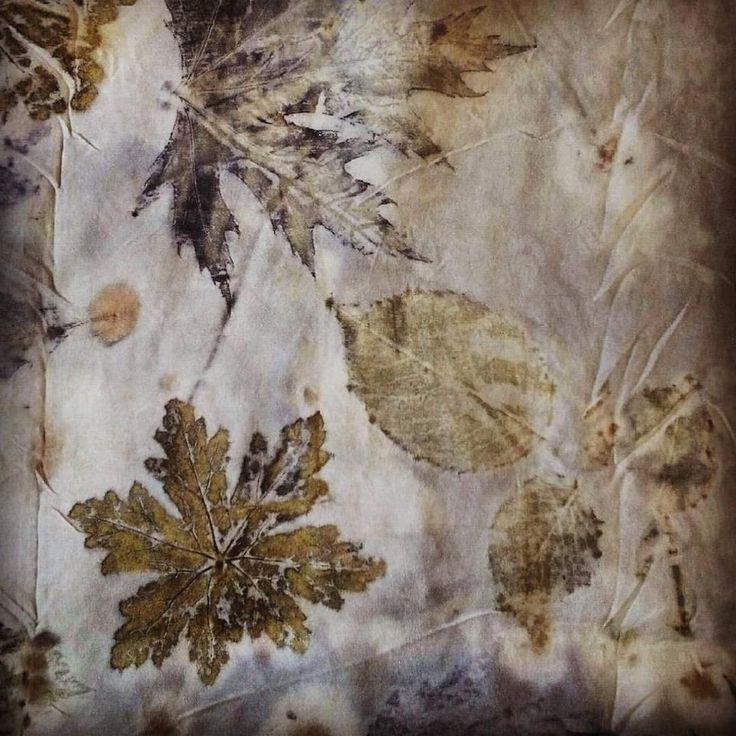 YOD ecoprinted silk