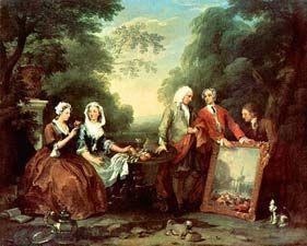 Fountaine Family Portrait - William Hogarth, 1697-1764 - OldMastersOnline.com