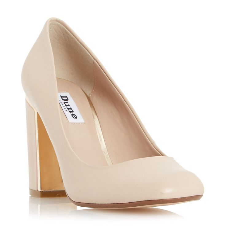 Block Heel Nude Shoes | Tsaa Heel