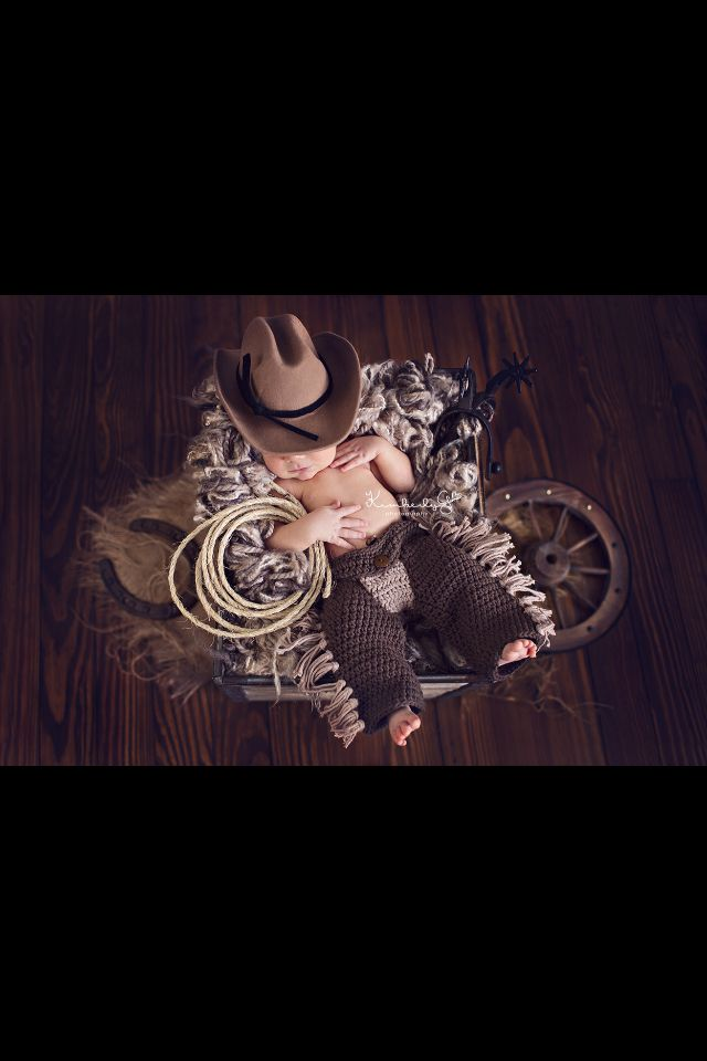 My Sleepy Cowboy!! #Newborn #Cowboy