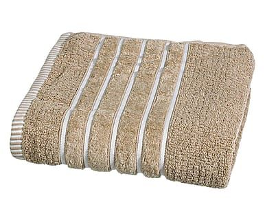 Asciugamano viso in cotone Salerno beige, 55x100 cm