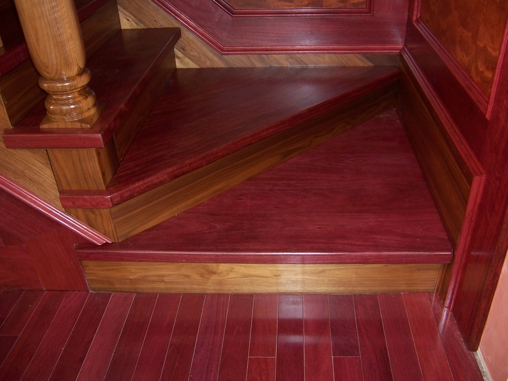 Purple heart wood floors a must for our new house for Purple heart flooring