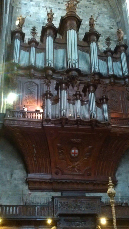 Cathédrale St Just Narbonne... Trompettiste et orgue un duo magnifique..... 17.06.2016
