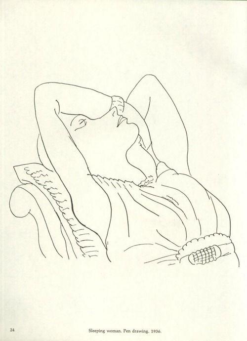 Henri Matisse - Sleeping woman, 1936
