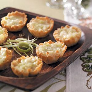 Brie-Leek Tartlets - Taste of Home Courtesy of Colleen MacDonald  Port Moody  British Columbia.