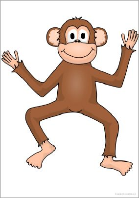Giant monkey picture for display (SB9447) - SparkleBox