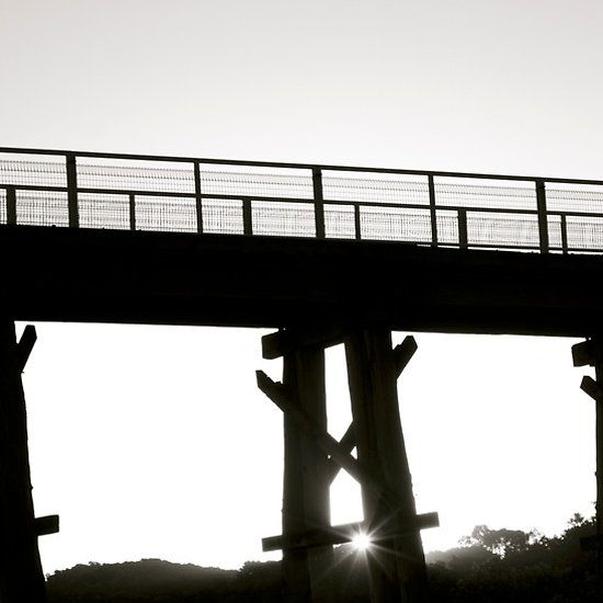 Bridge #2 Photograph by Clancefncypants. Old Kilcunda train bridge by sunset. Kilcunda, Vic, Australia.
