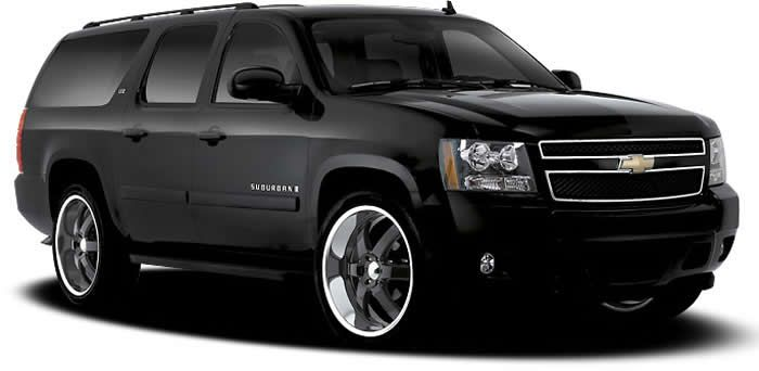 BOSS 330 BLACK WHEELS CHEVROLET SUBURBAN BLACK