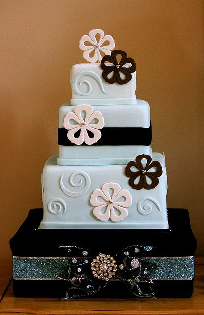 Jessica & Jon's Wedding Cake by The Couture Cakery, via Flickr