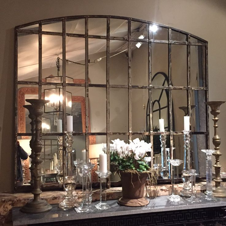 Forged Iron French Industrial Mirror — Parterre