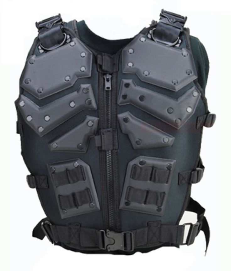 BLACK tactical Airsoft Paintball GI Joe Light Body Armor- Molle Vest ADULT #2 in Chest Rigs & Tactical Vests | eBay