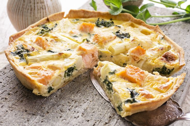 Seafood Recipe: Salmon and Asparagus Quiche