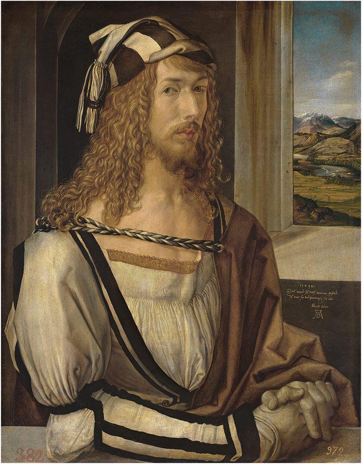 Self-portrait Dürer Oil on panel, 52 x 41 cm 1498 Madrid, Museo Nacional del Prado