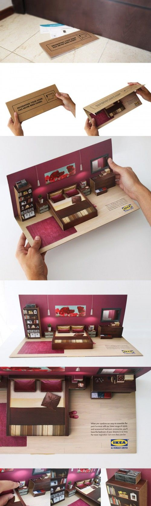 Publicité / Ikea : Une maison compactée dans une lettre postale