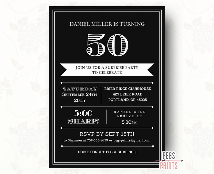 15 best surprise 40th images on pinterest | 40th birthday parties, Birthday invitations