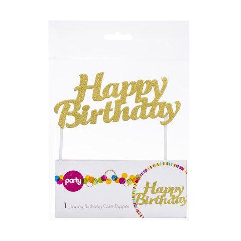 Happy Birthday Cake Topper | Kmart