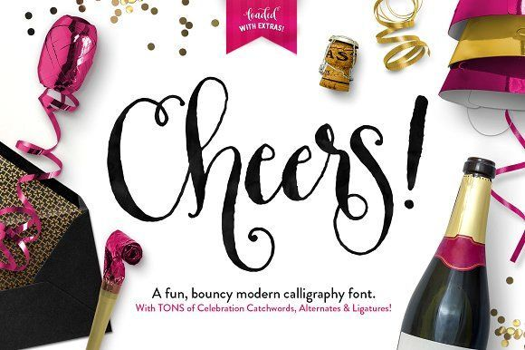 Cheers Font & Graphics Pack by Callie Hegstrom on @creativemarket