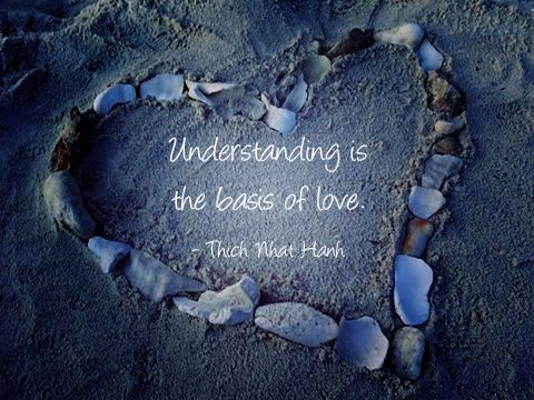 Understanding is the basis of love  - Thich Nhat Hanh.