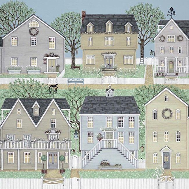 Greeting Cards » Brambling Village Greetings Card » Brambling Village Greetings Card - Sally Swannell