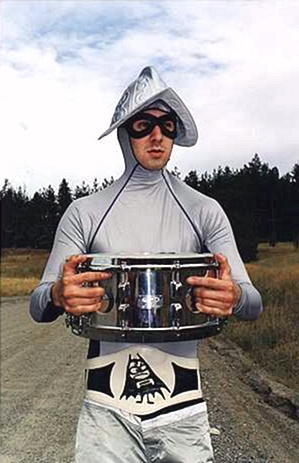 Travis Barker: Blink 182 drummer? Yep. He played for the Aquabats in the 90's. Ha