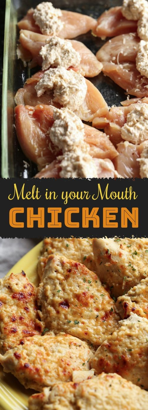 This easy chicken recipe is a MUST TRY! Melt In Your Mouth Chicken