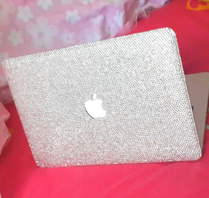 Macbook Cover Ideas : Macbook case air handmade bling clear crystals