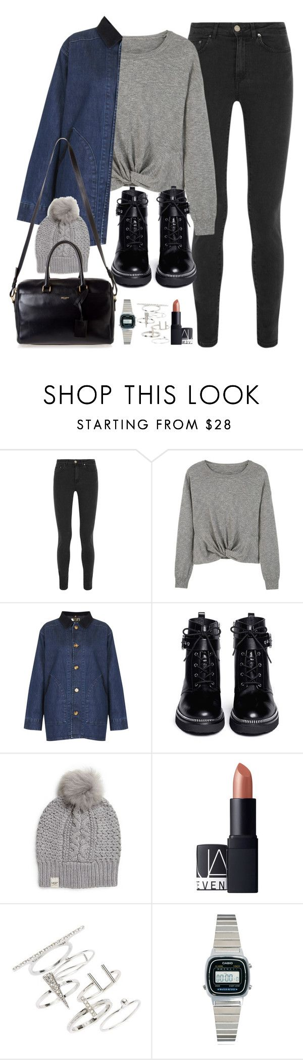 """Untitled #159"" by simonakolevaa ❤ liked on Polyvore featuring Acne Studios, MANGO, Topshop, MICHAEL Michael Kors, UGG Australia, NARS Cosmetics, Casio and Yves Saint Laurent"