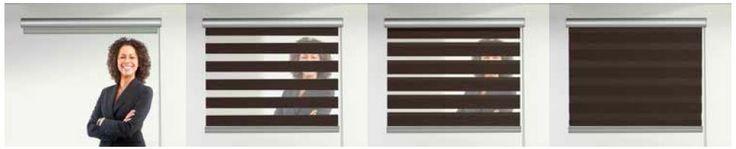 Sávroló - A textilek felületén sötétítő és fényáteresztő csíkok váltják egymást, így a két egymást követő sáv segítségével szabályozhatjuk a beáramló fényt és a beláthatóságot.