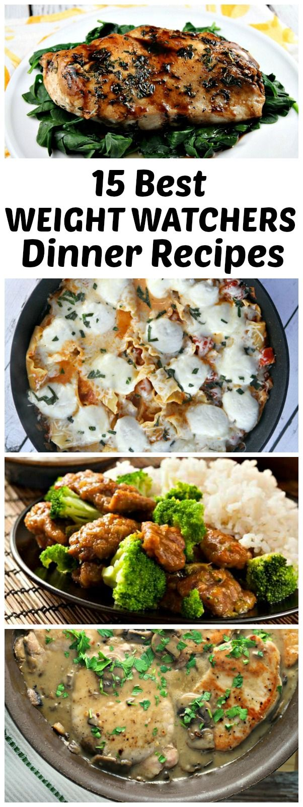 15 Best Weight Watchers Dinner Recipes with Points: included are recipes for Balsamic Chicken, Easy Skillet Lasagna, Slow Cooker Hoisin Chicken, Pork Chops with Dijon Maple Sauce, Beef and Broccoli and more!