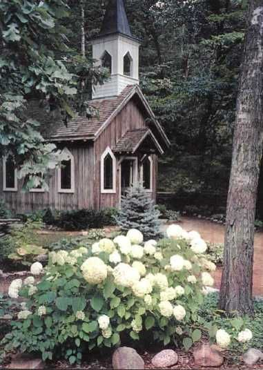 The Chapel in the Woods - Where I got married more than a decade ago :) after walking across the covered bridge that spans the Crystal River