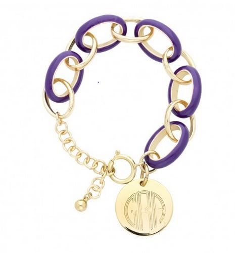 ECU Purple Game Day Bracelet Personalized with Name, Monogram or initials. East Carolina University Pirates!