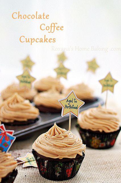 chocolate coffee cupcakes by RoxanaGreenGirl   Roxana's Home Baking, via FlickrCream Cheese Frostings, Chocolate Cupcakes, Cupcakes Recipe, Chocolates Cupcakes, Coffee Cream, Frosting Recipes, Chocolates Coffee, Coffee Cupcakes, Cream Cheeses