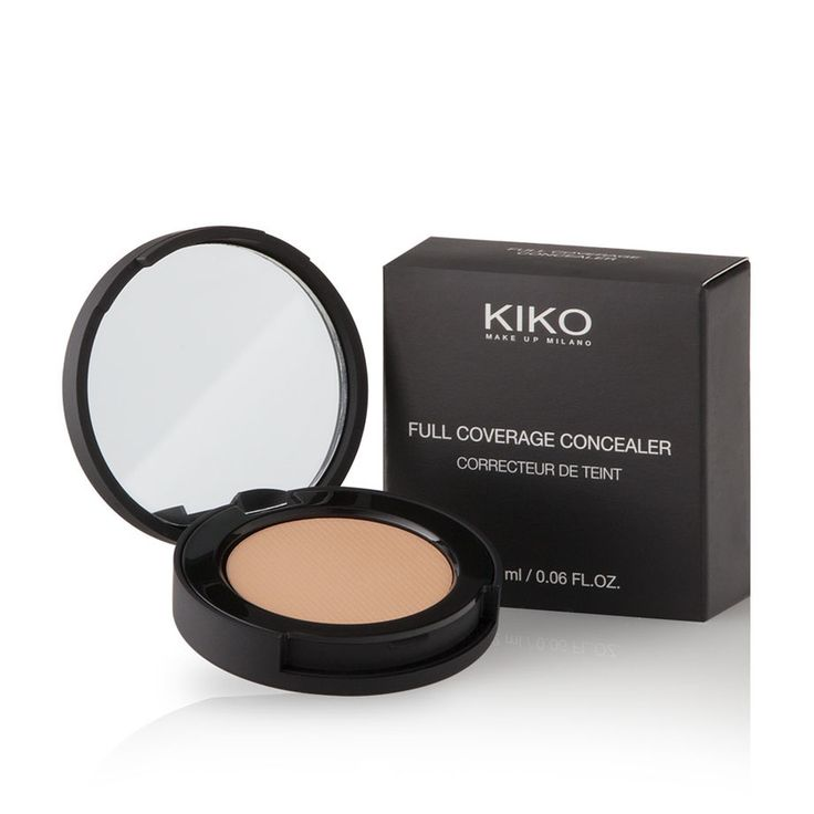 Purchase Full Coverage Concealer online, the compact, very high coverage concealer by KIKO for spot and blemish-free skin.