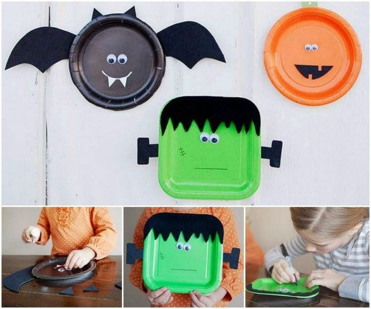 halloween paper plate crafts simple as that super simple last minute halloween craft ideas for the kids create these cute little halloween characters - Halloween Simple Crafts