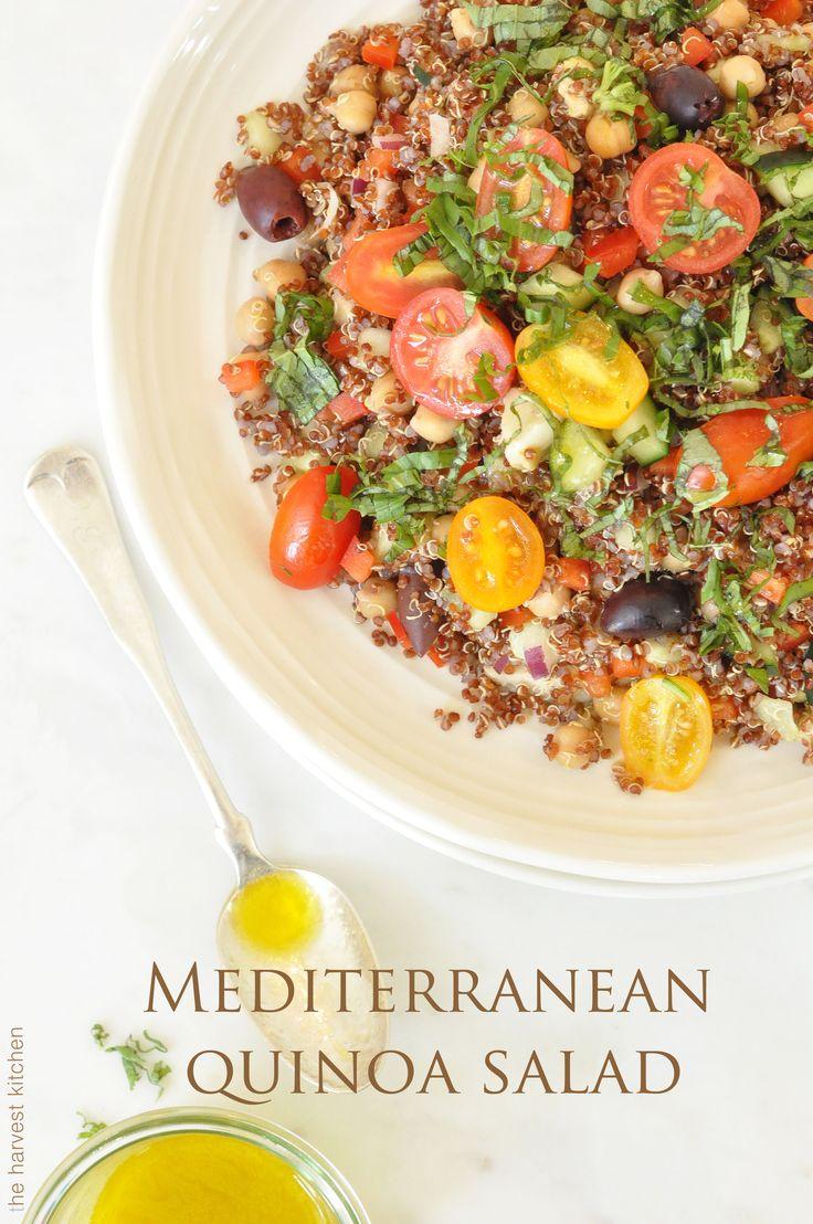 Colorful Mediterranean Quinoa Salad with Chickpeas