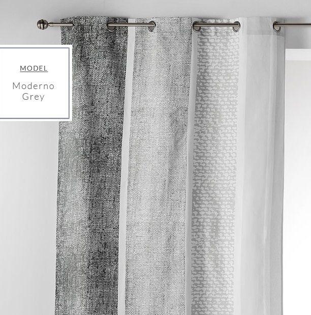Dekoračné závesy na okno sivej farby v severskom štýle