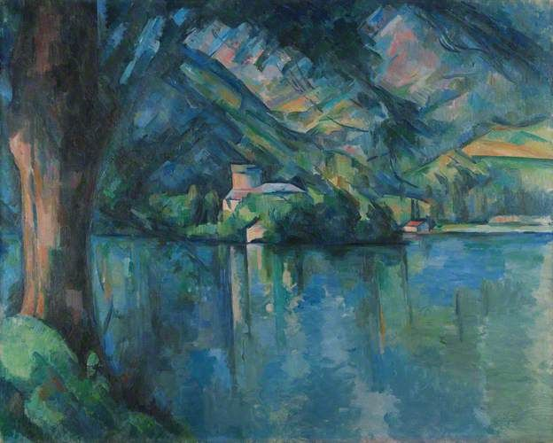 The Lac d'Annecy by Paul Cézanne The Courtauld Gallery