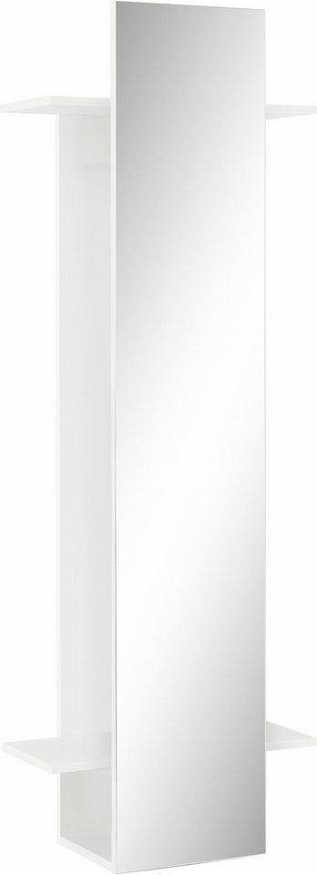 Schildmeyer Garderobenpaneel »Beli« mit Spiegel für 149,99€. Mit »2« Ablageflächen, 1 Kleiderstangen, Maße (B/T/H): 34-60/30,5/175 cm, Made in Germany bei OTTO