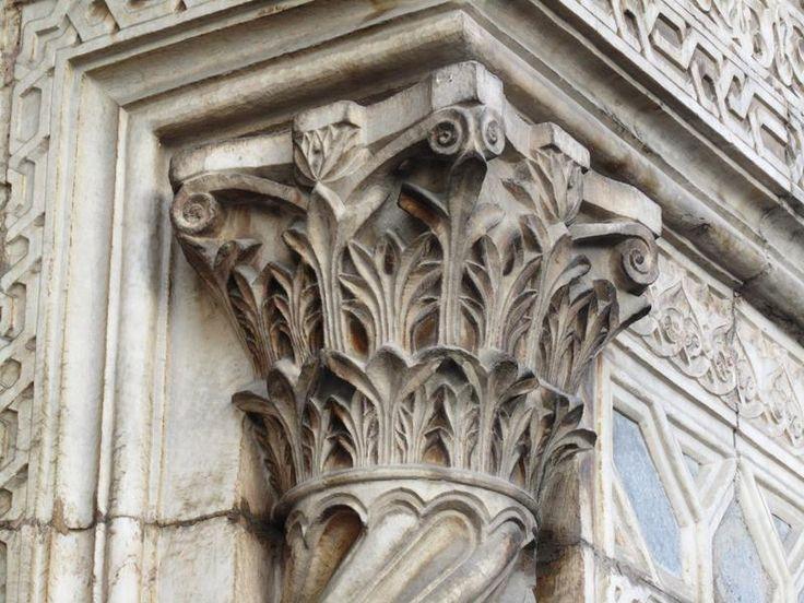 Konya - Karatay medresesi. Detail from portal.