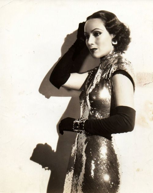 Dolores Del Rio in International Settlement wearing Joseff Hollywood Jewelry