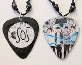 2- 5 Seconds Of Summer Guitar Pick Necklaces