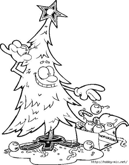 Christmas Tree Courtesy Of Spongebob Colorring Page